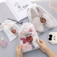 KECIL - POUCH SERUT BROWN TAS KOSMETIK MAKE UP SABUN TRAVEL ORGANIZER