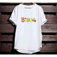 Kaos Natal Christmas Believe tersedia size anak dan dewasa S-2XL