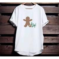 Kaos Natal Oh Snap Ginger Bread Green size anak dan dewasa S-2XL