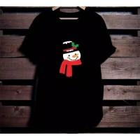 Kaos Natal Christmas Cute Snowman size anak dan dewasa S-2XL