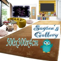 Karpet/Matras Bulu Rasfur Super Big Size 500x300x4cm Anti Slip Super - 500x300x4cm, Hijau Daun