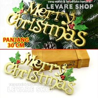 Tulisan Merry Christmas Besar - Gantungan Hiasan Dekorasi Pohon Natal