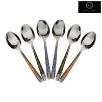 Sendok Makan Motif Batik Stainless Steel Isi 12pcs
