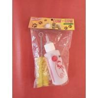 Botol Dot Minum Susu Hewan Kucing Anjing Kelinci Hamster + Dot Sikat