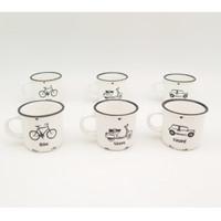 Mug Set Espresso Mix Design Isi 6 buah