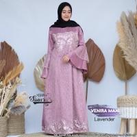 Gamis Wanita Maxi Venira Lavender