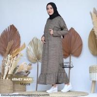 Baju Gamis Wanita Terbaru Maxi Armey Mocca