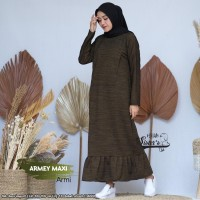 Baju Gamis Wanita Terbaru Maxi Armey Armi