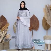 Baju Gamis Wanita Terbaru Maxi Venira Silver