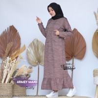 Baju Gamis Wanita Terbaru Maxi Armey Dusty