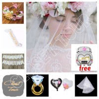 Paket bridal shower flower crown 6 items bachelorette superior