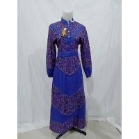 Gamis Pakaian Busana Muslim Batik Pekalongan Wanita Printing 2