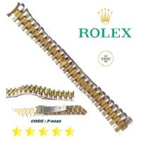 Strap Tali Rantai Jam Tangan Rolex President Kombinasi Silver Gold