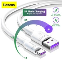 Kabel Baseus Support Huawei Super Charge 5A Type C Data Transfer 2M