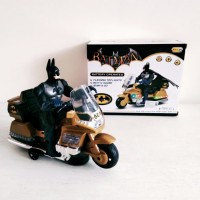 Mainan Sepeda Motor Batman With Flashing Colorful Lights