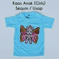 Kaos Anak Cewe Sequin / Usap LOL