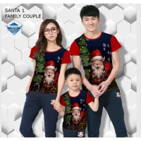 Kaos natal santa 1 kaos couple keluarga fullprint customic