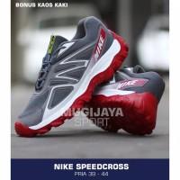 SEPATU SPORT PRIA NIKE AIRMAX SPEEDCROSS RED WHITE x adidas