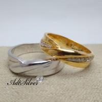 cincin kawin Emas dan Palladiun couple M-103