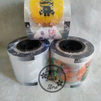 Plastik Lid Cup Sealer/ Plastik Segel Minuman / Tutup Gelas Polos 1300