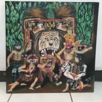 Lukisan Kanvas Akrilik 40 x 40 / Hiasan Dinding