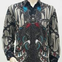 Kemeja Pria Batik Big Size 4L-5L Hem Batik Jumbo Lengan Panjang PR-TTK