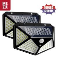 PENTAGON 100 LED Lampu Taman Dinding Motion Detector Solar Cell