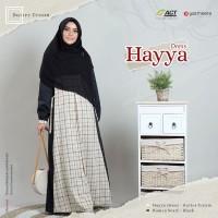 Hayya Dress Butter Cream by YASMEERA /Gamis motif kotak/Gamis Saja