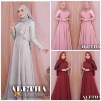 aletha burkat maxy Pakaianwanita dress