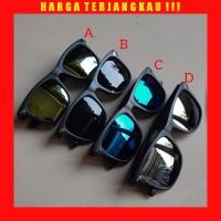 Kacamata Fashion Anak - Sunglasses Mirror UV Hitam Gaya Pria Wanita