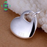 Liontin Sterling Silver 925 Bentuk Hati U Wanita