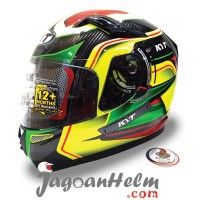 KYT Helm K2 Rider Super Fluo #2