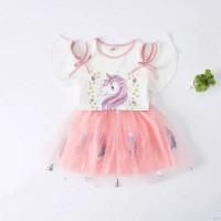 setelan unicorn dengan rok tutu for baby girl