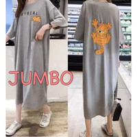 DaveFashion - Long Dress JUMBO wanita STAY REAL Garfield