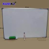 Whiteboard Kamiko 60 x 90 cm Gantung - Spidol Hitam - Hapusan
