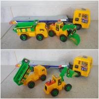 Mainan mobil truck kontainer truk trailer angkut edukasi anak