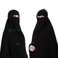 Alsyahra Flap Niqab Poni Bisban Jetblack Exclusive Edition