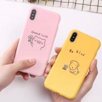 Pig Dog Iphone case 6 6S 6+ 6 plus 7 8 X XR XS MAX lucu cute soft doff