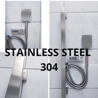 Hand Shower + Tiang stainless steel 304 set shower kamar mandi