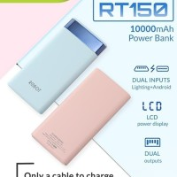 ROBOT RT150 POWER BANK 10000MAH 2 USB PORT SLIM LCD DISPLAY POWERBANK