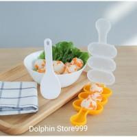 Cetakan Bola Nasi Bento Sushi / Rice Ball Shaker + Centong Nasi
