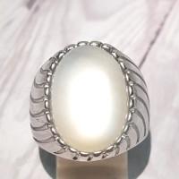 cincin batu natural biduri bulan ceylone kualitas super