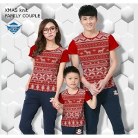Kaos natal santa xmas knit kaos couple keluarga fullprint customic