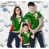 Kaos natal santa 3r kaos couple keluarga fullprint customic