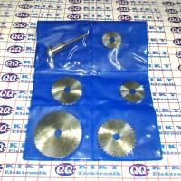 6 in 1 hss circular saw blade set / mata gergaji circular mini