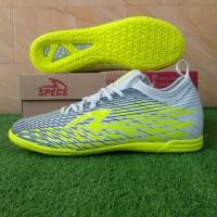 Specs Swervo Venero 19 IN (Sepatu Futsal) - Cool Grey/Safety Yellow
