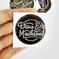 Stiker Deus Ex Machina Emblem timbul Sticker Motor Aksesoris Helm