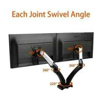 "Braket TV Monitor LED 2 TV Fleksible Original 12 - 27"" inci"
