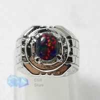 Batu Cincin Kalimaya Australia Black opal