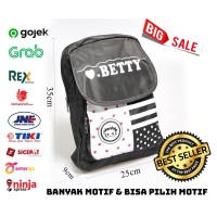 Tas ransel backpak pungung travel jalan fashion korea keren betty lucu